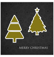 christmas tree with pattern background vector image vector image