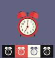 clock icon flat red analog vector image vector image