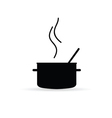 cooking pot icon silhouette vector image