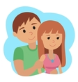 Couple younger man and woman in cloud icon