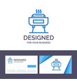 creative business card and logo template barbeque vector image vector image