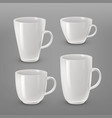 cups and mugs vector image vector image