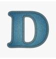 Denim letter Jeans alphabet vector image vector image