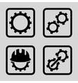 Development Flat Squared Icon vector image