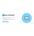 digital strategy line icon simple icon banner vector image
