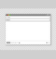 email window blank text message frame interface vector image