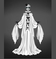 female pierrot character suit 3d realistic vector image vector image