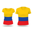 Flag shirt design of Colombia vector image vector image