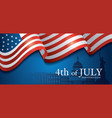 flag united states america 4th july vector image
