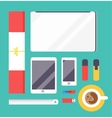 Flat style mockup design templateign vector image vector image