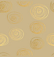 gold texture circles seamless pattern abstract vector image