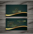 Golden company business card design