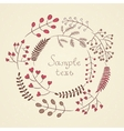 Hand drawn floral wreath with natural elements vector image vector image