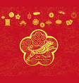 happy chinese new year and year of dog card is vector image