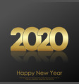 happy new year christmas card with golden vector image vector image