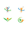 healthy life logo template vector image