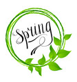 hello spring abstract background design element vector image vector image
