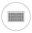 hotel icon black color in circle vector image vector image