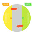 info graphic business circle vector image vector image