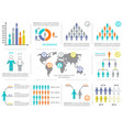 infographic design elements demographic vector image vector image