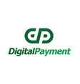 initial dp letter digital payment logo design vector image vector image