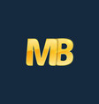 initial letters mb m b with logo design vector image