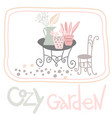 isolated elements of cozy garden vector image