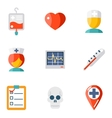 Isolated icons set Medical vector image vector image