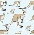 kangaroo animal is a canada seamless pattern vector image vector image