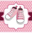 kids sneakers vector image vector image