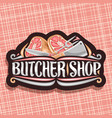 logo for butcher shop vector image vector image