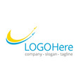 logotype about travel and flying vector image vector image