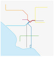 los angeles metro map california united states vector image