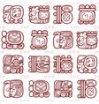 maya glyphs mayan writing seamless pattern vector image