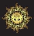 medusa gorgon golden head in flame hand drawn vector image vector image