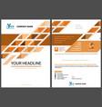 modern graphic design for propagation leaflet vector image vector image