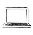 monochrome blurred silhouette of laptop computer vector image vector image