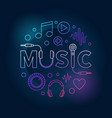 music colored made with word vector image vector image