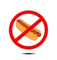 no hot dog vector image vector image