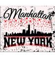 NYC t-shirt skyline vector image vector image