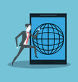 office and business technology vector image vector image