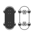 old skateboards set on white background vector image vector image