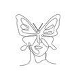 one continuous line drawing sexy woman abstract vector image vector image