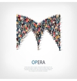 opera people sign 3d vector image vector image
