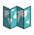 paper map isolated icon vector image vector image