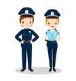 Policeman And Policewoman vector image vector image
