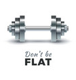 realistic dumbbells vector image