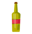 red wine bottle cartoon vector image vector image