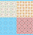 retro wallpaper set - vintage patterns vector image