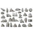 rock stones and debris mountain gravel vector image vector image